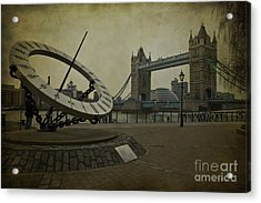 Acrylic Print featuring the photograph Timepiece. by Clare Bambers