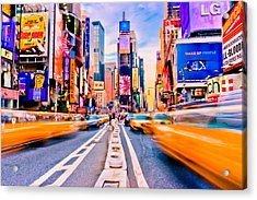Times Square Acrylic Print by David Hahn