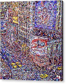 Times Square Acrylic Print by Marilyn Sholin