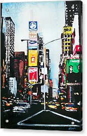 Times Square Nyc Acrylic Print by Ann Marie Napoli