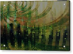 Tin City Acrylic Print by Kathy Sheeran