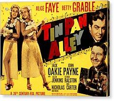 Tin Pan Alley, Alice Faye, Betty Acrylic Print
