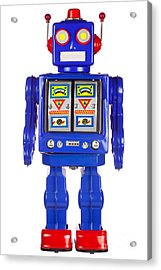 Tin Robot Arms By His Side Acrylic Print by Richard Thomas