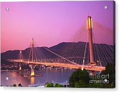 Ting Kau Bridge Acrylic Print