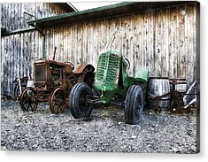 Tired Tractors Acrylic Print