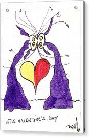 Tis Valentine's Day Acrylic Print by Tis Art