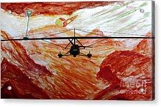 Titan Flight On Moon Of Saturn Acrylic Print