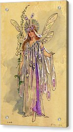 Titania Queen Of The Fairies A Midsummer Night's Dream Acrylic Print by C Wilhelm