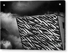 Titanic Building Titanic Quarter Queens Island Belfast Northern Ireland Uk Acrylic Print by Joe Fox