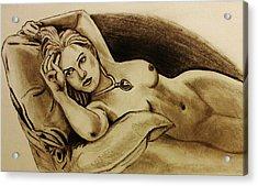 Titanic Rose Acrylic Print by Michael Cross
