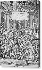 Title Page To Vesalius' Book On Anatomy Acrylic Print