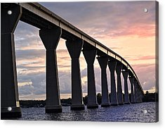 Acrylic Print featuring the photograph Tj Bridge by Kelly Reber