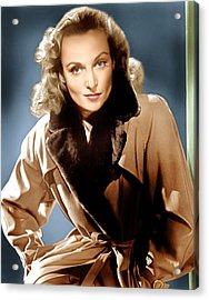 To Be Or Not To Be, Carole Lombard, 1942 Acrylic Print