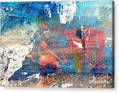 To Feel Blue Acrylic Print by Fania Simon