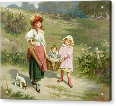 To Market To Buy A Fat Pig Acrylic Print by Edwin Thomas Roberts