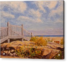 Acrylic Print featuring the painting To The Beach by Joe Bergholm