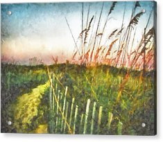 Acrylic Print featuring the painting To The Sea by Lynne Jenkins