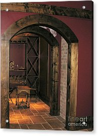 To The Wine Cellar Acrylic Print by Renee Trenholm