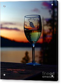 Toasting A Beautiful Evening Acrylic Print
