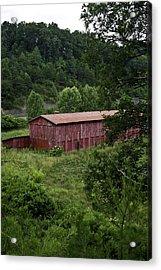Tobacco Barn From Afar Acrylic Print by Douglas Barnett