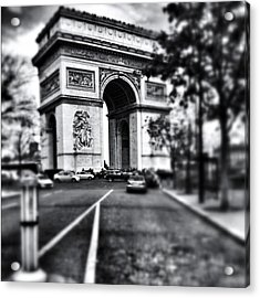 #today #paris #monument #bnw #monotone Acrylic Print by Ritchie Garrod