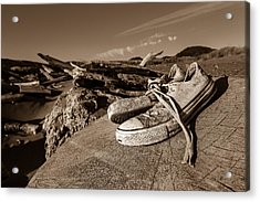 Acrylic Print featuring the photograph Toes In The Sand by Randy Wood