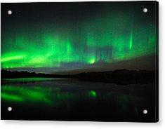 Tofte Lake Aurora Acrylic Print