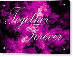 Together Forever Acrylic Print by Phill Petrovic