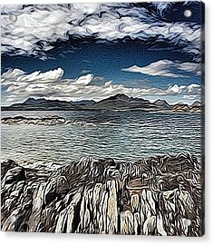 Tokavaig To The Black Cuillins Acrylic Print