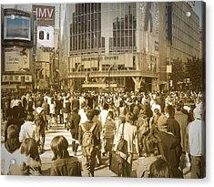 Tokyo Intersection Acrylic Print by Naxart Studio