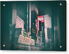Tokyo Lights Acrylic Print by Naxart Studio