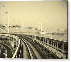 Tokyo Metro Ride Acrylic Print by Naxart Studio