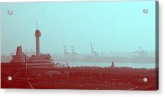 Tokyo Port Acrylic Print by Naxart Studio