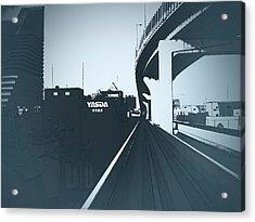 Tokyo Ride Acrylic Print by Naxart Studio