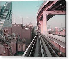Tokyo Train Ride 5 Acrylic Print by Naxart Studio