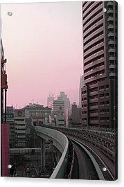 Tokyo Train Ride 6 Acrylic Print by Naxart Studio