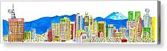 Tokyo's Skyline Acrylic Print by Catarina Bessell