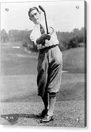 Acrylic Print featuring the photograph Tom Armour Wins Us Golf Title - C 1927 by International  Images