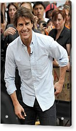 Tom Cruise At Talk Show Appearance Acrylic Print by Everett