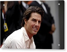 Tom Cruise At The Press Conference Acrylic Print by Everett
