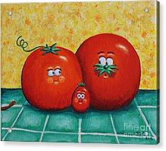 Tomato Family Portrait Acrylic Print by Jennifer Alvarez