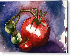 Tomatoes Acrylic Print by Eunice Olson
