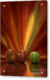 Acrylic Print featuring the digital art Tomatoes by Johnny Hildingsson