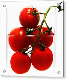 Tomatos Art Abstract Acrylic Print by Tanja Riedel