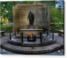 Tomb Of The Unknown Revolutionary War Soldier II - George Washington  Acrylic Print by Lee Dos Santos