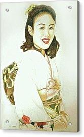 tomomi in Kimono Acrylic Print