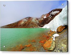 Tongariro Track Emerald Lakes New Zealand Acrylic Print by Timphillipsphotos
