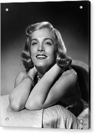 Too Late For Tears, Lizabeth Scott, 1949 Acrylic Print by Everett