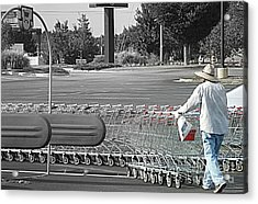 Acrylic Print featuring the photograph Too Many Carts by Renee Trenholm