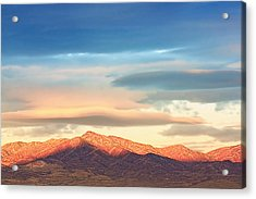 Tooele County Mountains At Sunrise Acrylic Print
